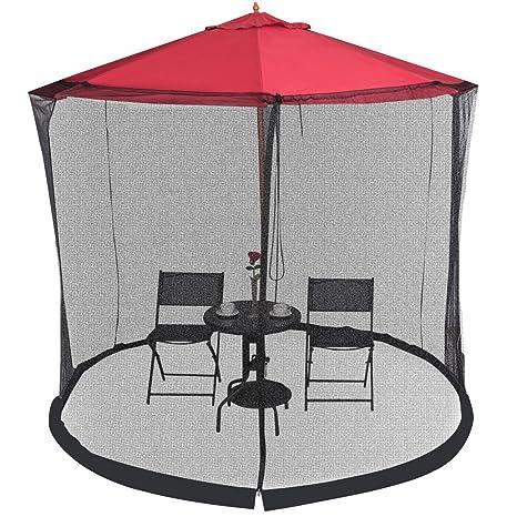 Custpromo Outdoor 9/10FT Umbrella Table Screen Mosquito Bug Insect Net Patio  Netting