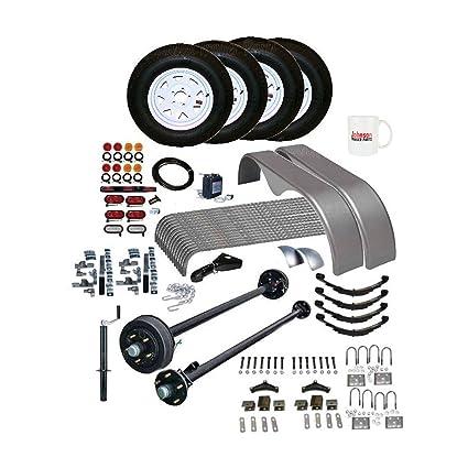 Amazon.com: Covered Cargo Trailer Parts Kit - 7,000 lb - Brake Axle ...