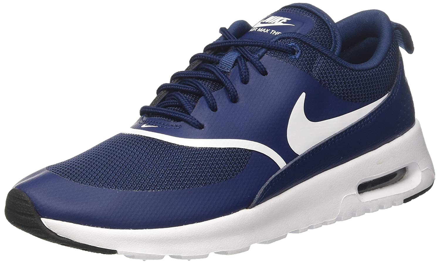 bluee (Navy White Black 419) Nike Women's Air Max Thea Low-Top Sneakers, Black
