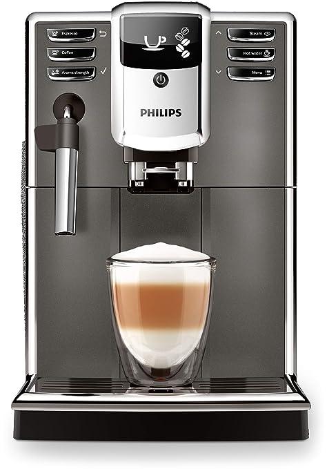 Philips Serie 5000 Cafetera espresso automática, máquina de café de 3 bebidas, espumador de