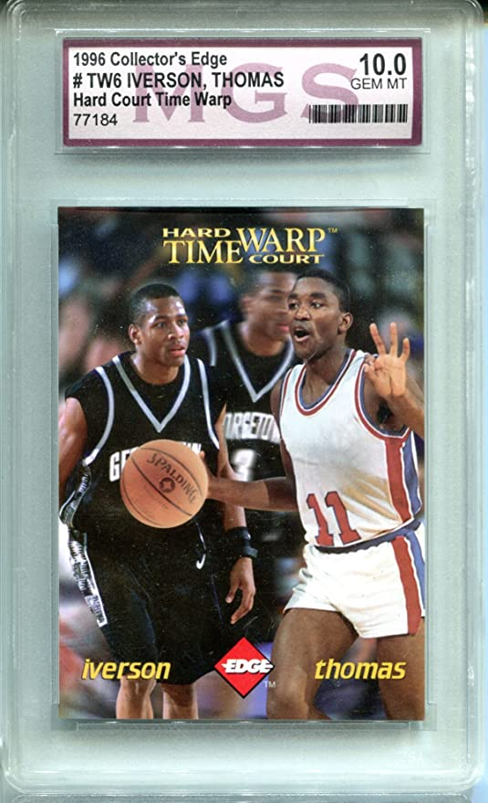 c8a9d6d5fdf Allen Iverson Isiah Thomas 1996 Collector's Edge Time Warp Rookie  Basketball Trading Card NBA #TW6
