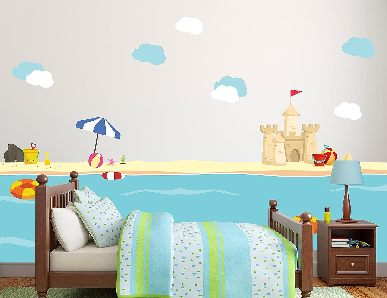 Details about  /Crabs Beach Sea Shell Sand Animal Cute Wall Sticker Vinyl Art Decals Decor