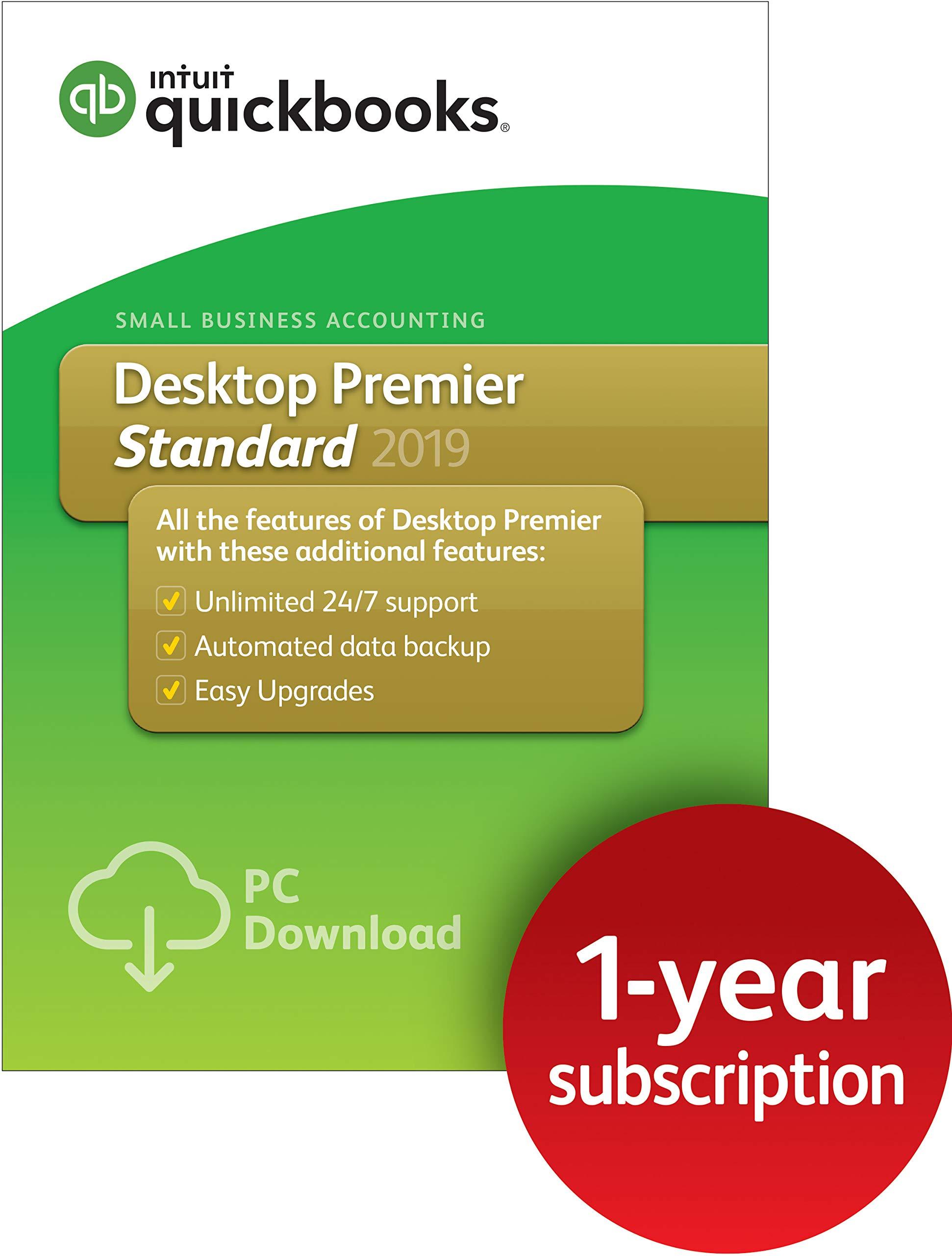 QuickBooks Desktop Premier Standard 2019, 1 Year Subscription [PC Download] by Intuit