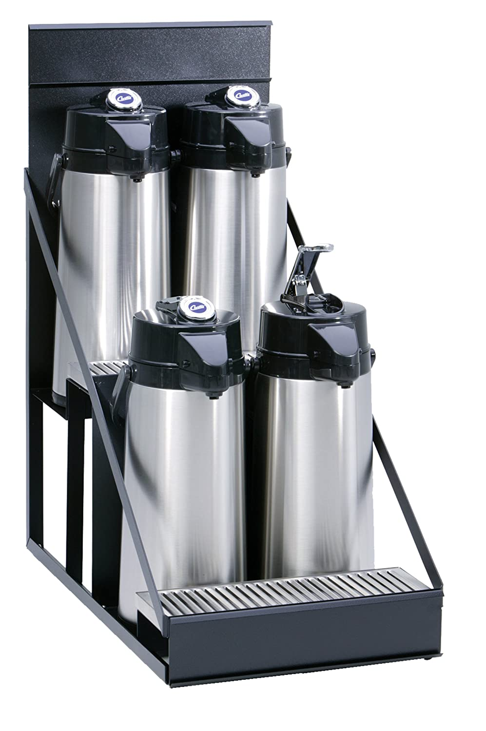 WR3B0000 Compact Design with Integral Drip Tray Wilbur Curtis  3 Position Wire Airpot Rack Pack of 3