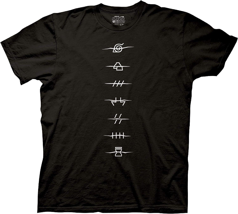 Ripple Junction Men's Naruto Shippuden Anti-Village Symbols T-Shirt