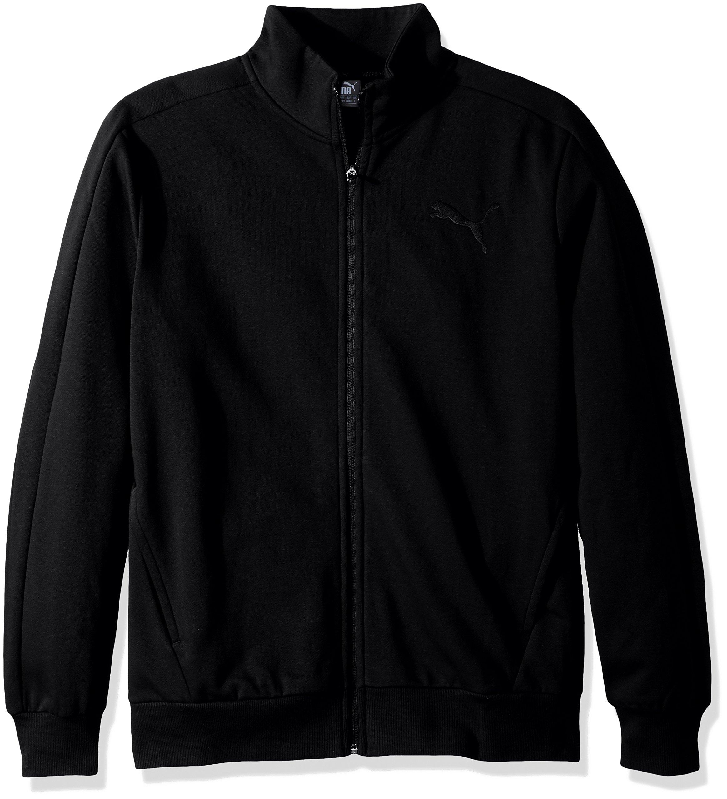 PUMA Men's P48 Core Track Jacket, Cotton Black, S by PUMA