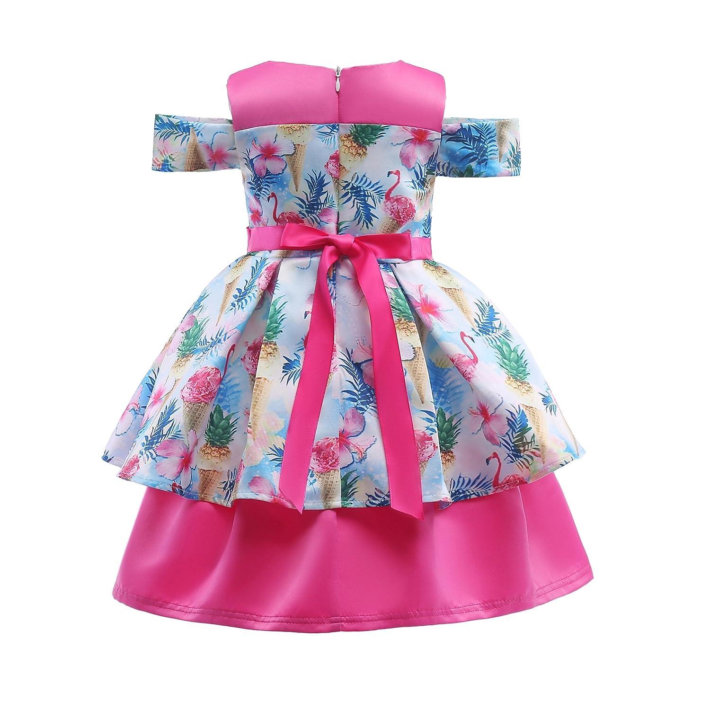 ADHS Niñas ocasión ocasión especial vestidos de Rosa boda fiesta de ...