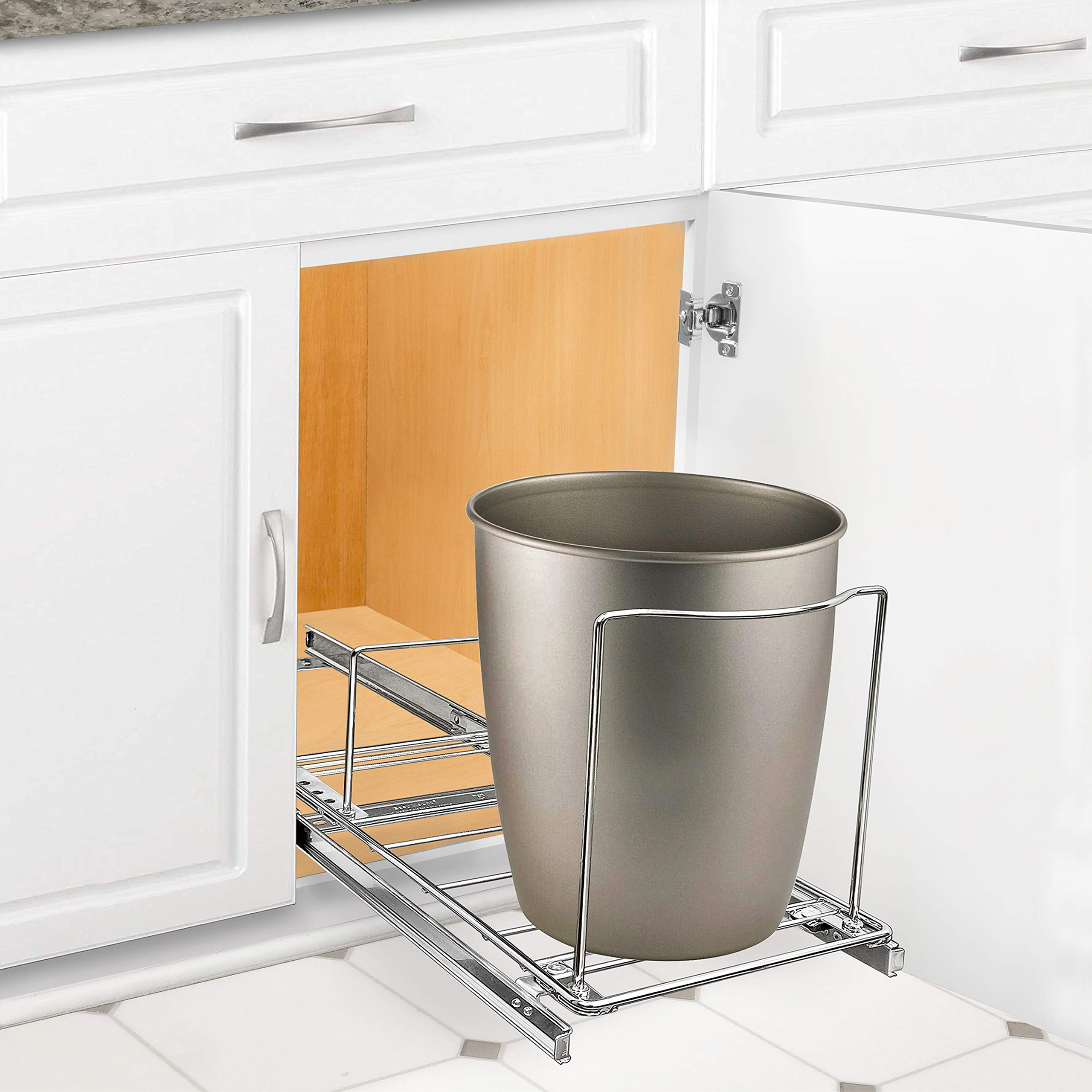 Professional Bin Holder Pull Out Under Cabinet Sliding Organizer