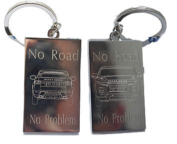 Llavero personalizable de doble cara para coche, Range Rover ...