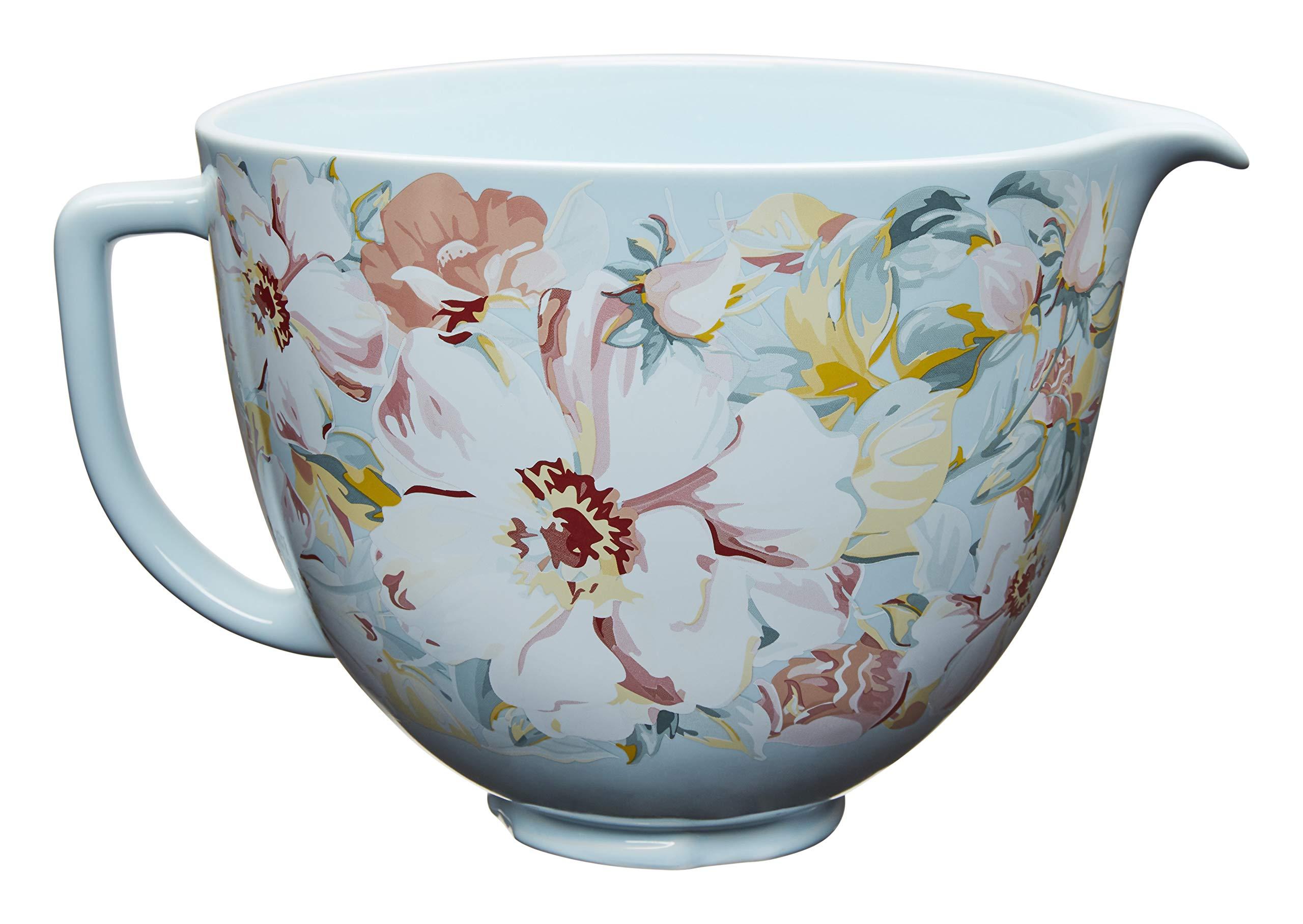 KitchenAid KSM2CB5PWG 5 Quart Ceramic Stand Mixer Bowl, 5 Qt, White Gardenia by KitchenAid