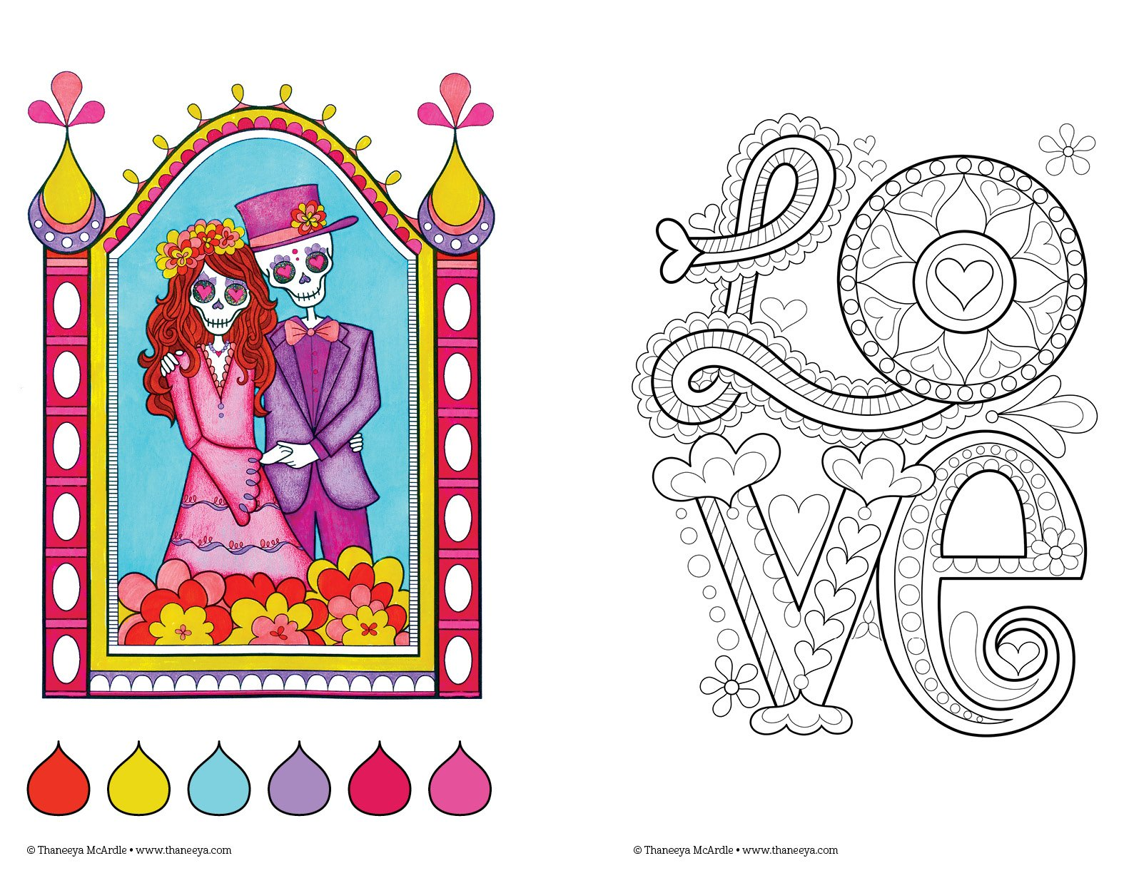 Amazon Color Love Coloring Book Perfectly Portable Pages On The Go Design Originals Hearts Flowers Animal Designs In A