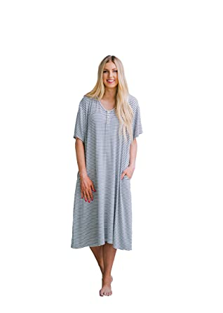 9f936ad6d2384 Undercover Mama House Dress Luxury 24-7 Maternity & Nursing Gown at Amazon  Women's Clothing store: