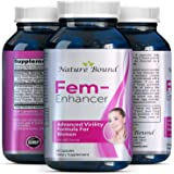 Natural Breast Enhancer Pills - Boost Bust Size & Improve Shape Without Surgery - Boost Your Bust - Avoid Weight Gain Elsewhere - Breast Enlargement Supplements - Gingseng + L Arginine - Nature Bound