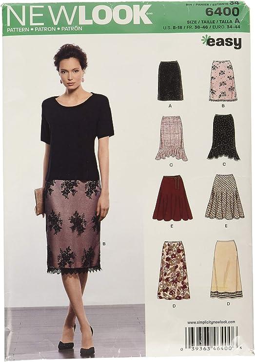 New Look en Varios Estilos – Patrón de Costura para Faldas, Tallas ...