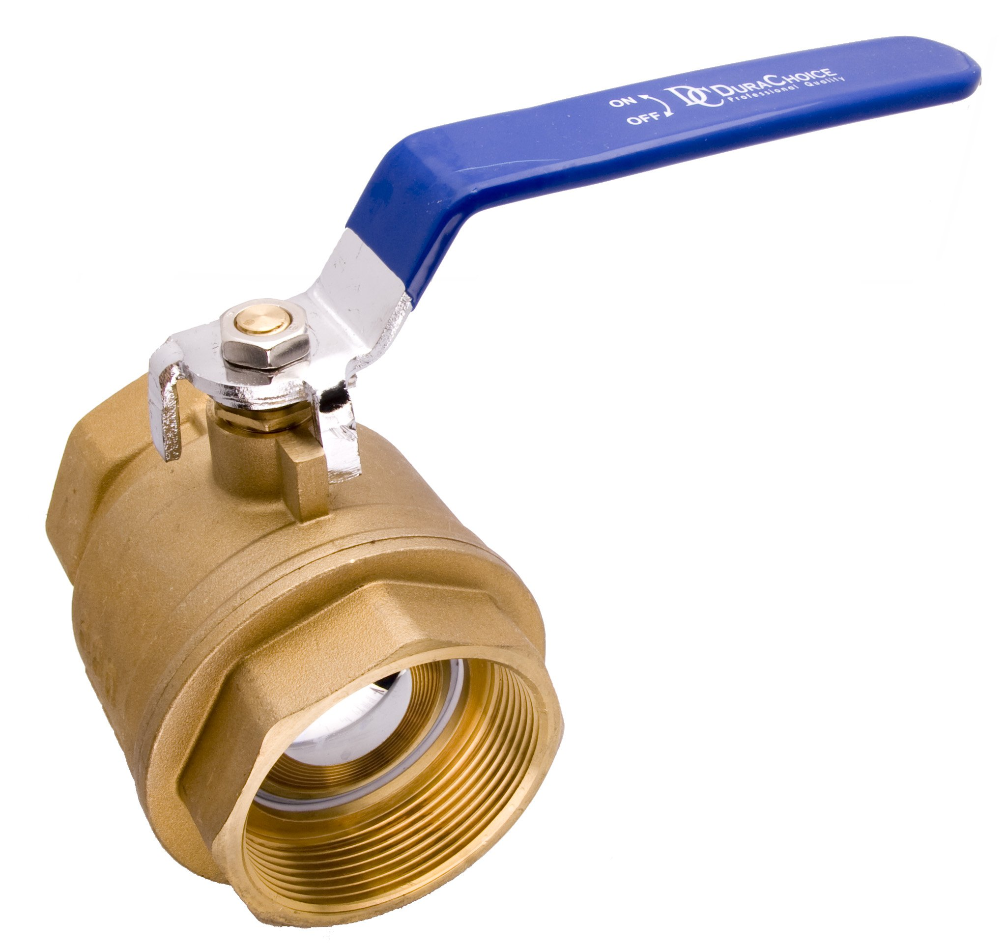 3'' Brass Ball Valve - Full Port 600WOG for Water, Oil, and Gas with Blue Handle