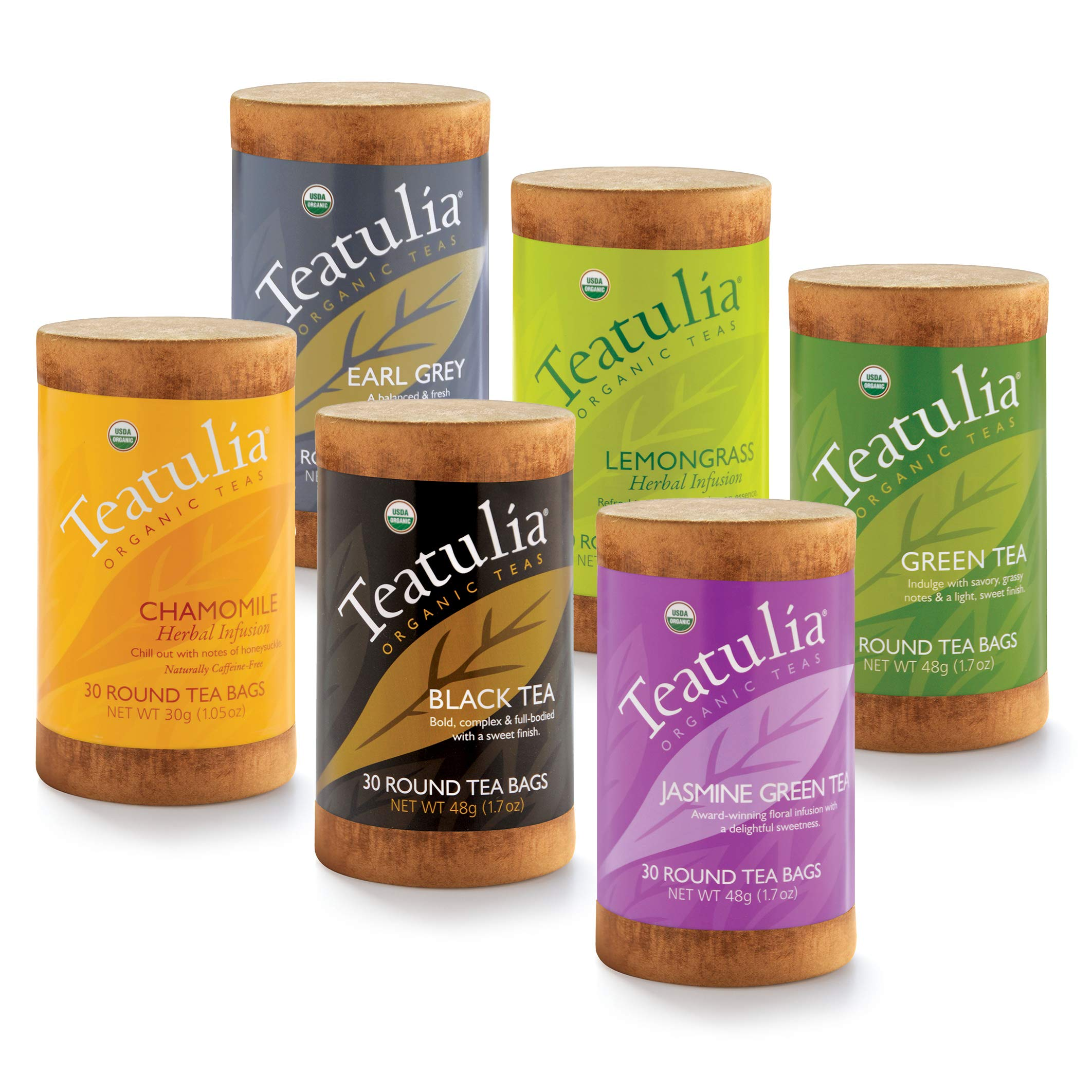 Teatulia Organic Classic Tea Variety Gift Set - 6 Tea Sampler - 180 tea bags by Teatulia