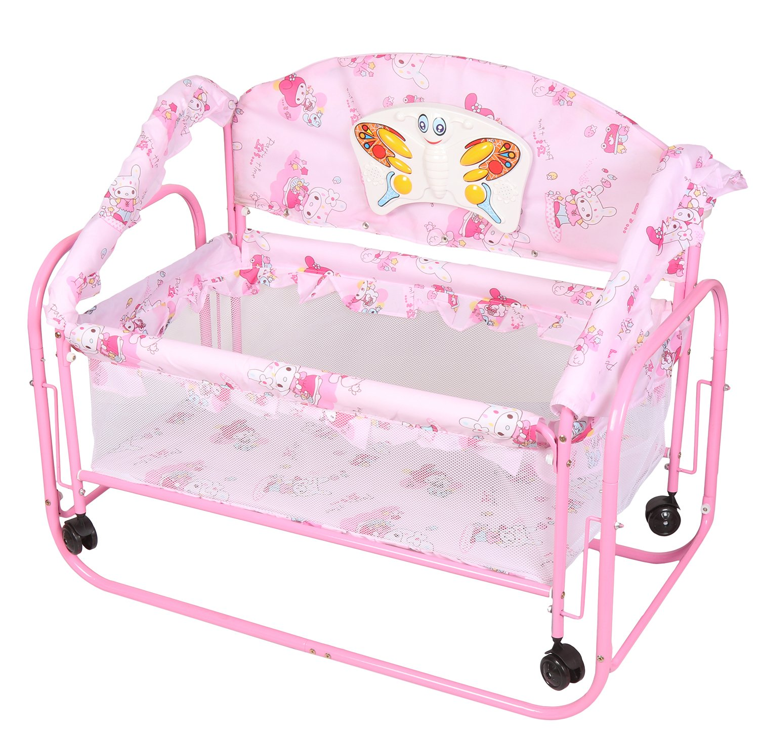 Tiffy & Toffee Baby Princess Cradle Cum Bed (Pink)