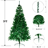 Ecolinear 7' Artificial Christmas Tree Eco-Friendly Pine Green Or White (Green)
