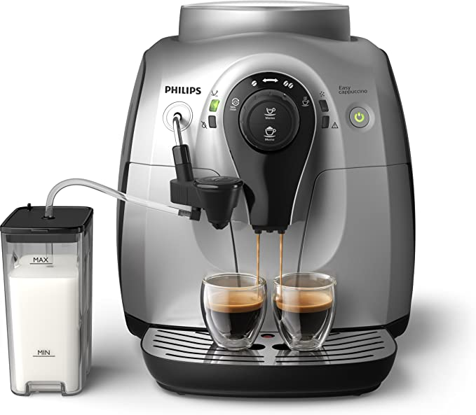 Philips Serie 2000 HD8652/51 - Cafetera Súper Automática, 2 Bebidas de Café, Jarra de Leche Externa, Molinillo Ceramico: Amazon.es: Hogar