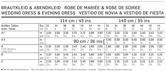 Amazon.com: Burda Evening & Bridal Wear Sewing Pattern 7257 Sizes: US 6-18: Arts, Crafts & Sewing
