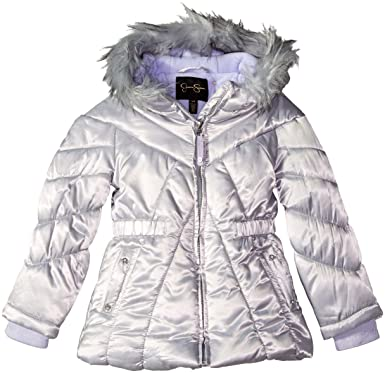 46f323ea3 Amazon.com: Jessica Simpson Girls' Puffy Winter Coat with Cozy Trimmed Hood:  Clothing