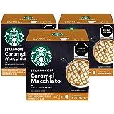 Starbucks By Ndg Starbucks By Nescafé Dolce Gusto, Caramel Macchiato, 3 Paquetes con 12 Cápsulas Cada Uno, Caramel Macchiato,