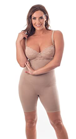 6200f3f90ca44 High Waist Thigh Slimmer Shapewear with Straps to secure
