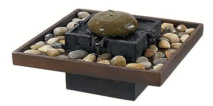 Amazon.com : Kenroy Home 50233BRZ Bliss Indoor Table Fountain ...