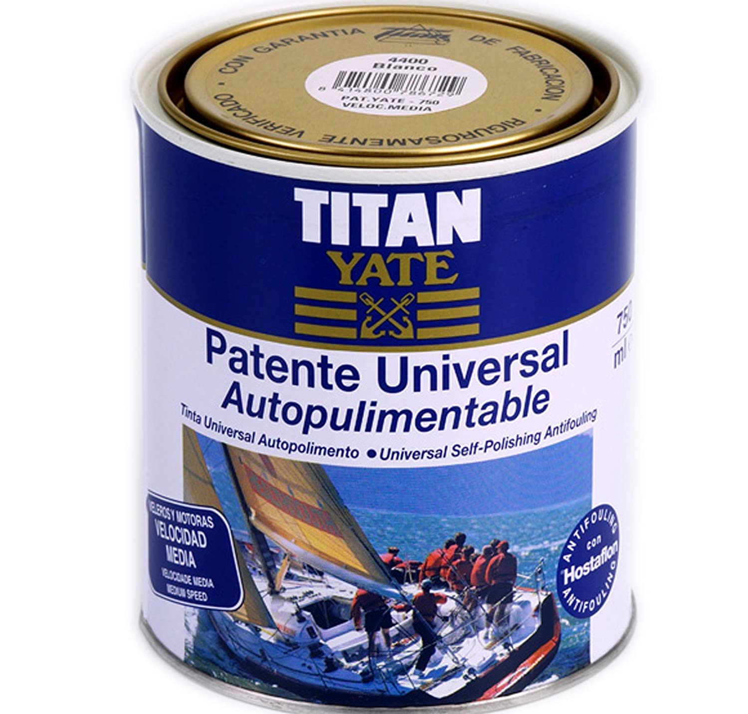 TITAN - Patente autopulimentable velocidad media mate sedoso azul intenso 750ml Titan Yate