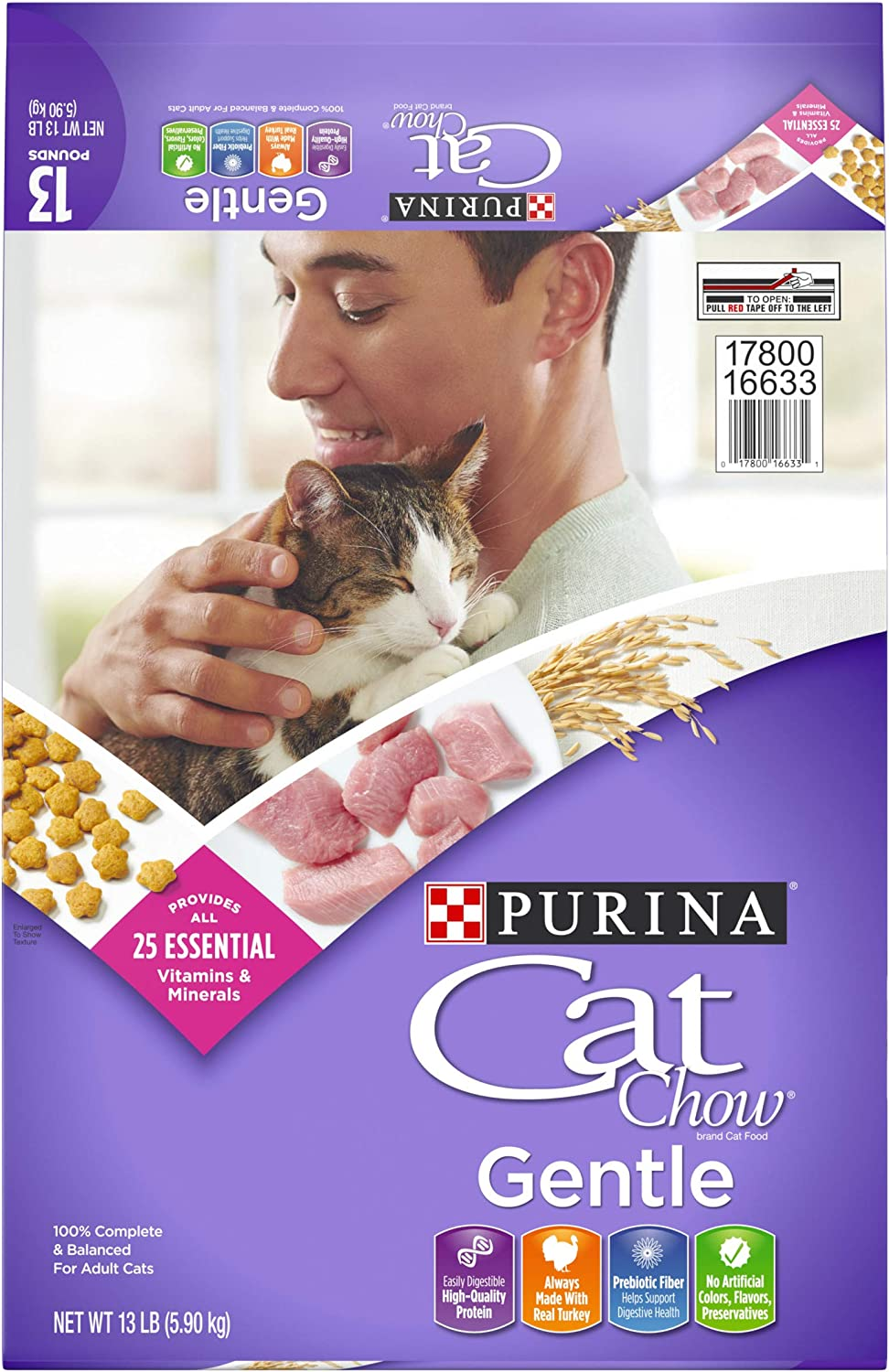 Purina Cat Chow Gentle Sensitive Stomach Adult Dry Cat Food