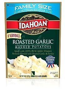 Idahoan Mashed Potatoes, Roasted Garlic,8 oz
