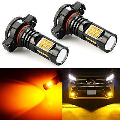 JDM ASTAR Bright Amber PX Chips 5202 5201 LED Fog Light Bulbs: Automotive