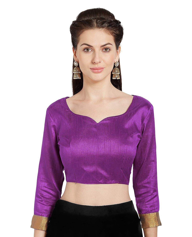 Women's Art Silk Readymade Saree Blouse Stylish Choli Mirchi Fashion Top