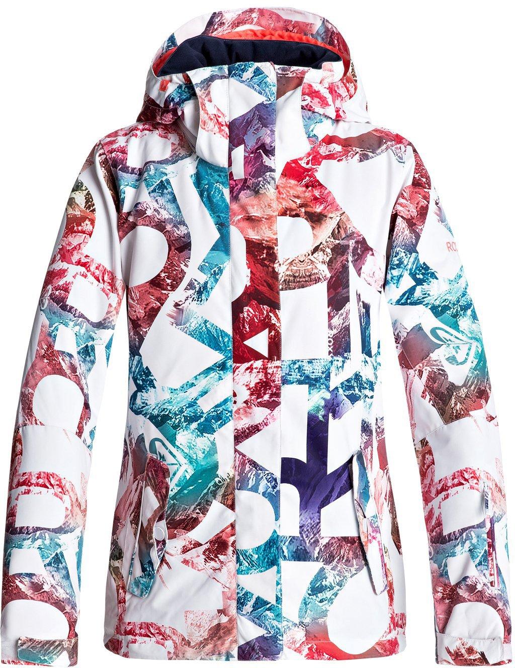 Roxy SNOW Junior's Roxy Jetty Snow Jacket, Bright White_Mountain Typo, M