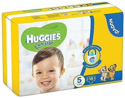 Huggies - Unistar - Pañales - Talla 5 (11 - 19 kg) - 18
