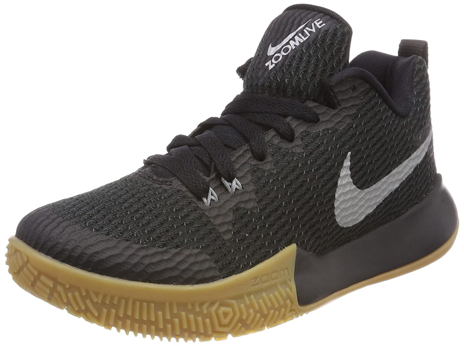 Nike Womens Zoom Trainers Live II Basketball Trainers Zoom AH7578 Sneakers Shoes 8 M US|Black Silver Gum 001 B074L7QH6X 9a74d2
