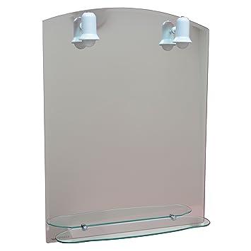 Badspiegel mit Licht / Spiegel mit Beleuchtung 79cm x 60cm/ Bad ... | {Spiegel mit beleuchtung und ablage 66}