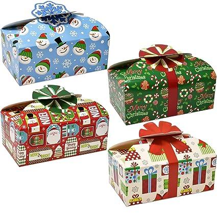 Amazon.com: 3d navidad cajas de galletas con lazos, Candy ...