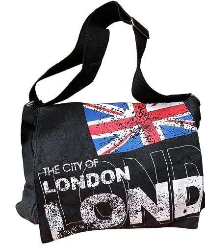 Robin Ruth Tasche, Motiv London / Union Jack, schwarz - schwarz - Größe: