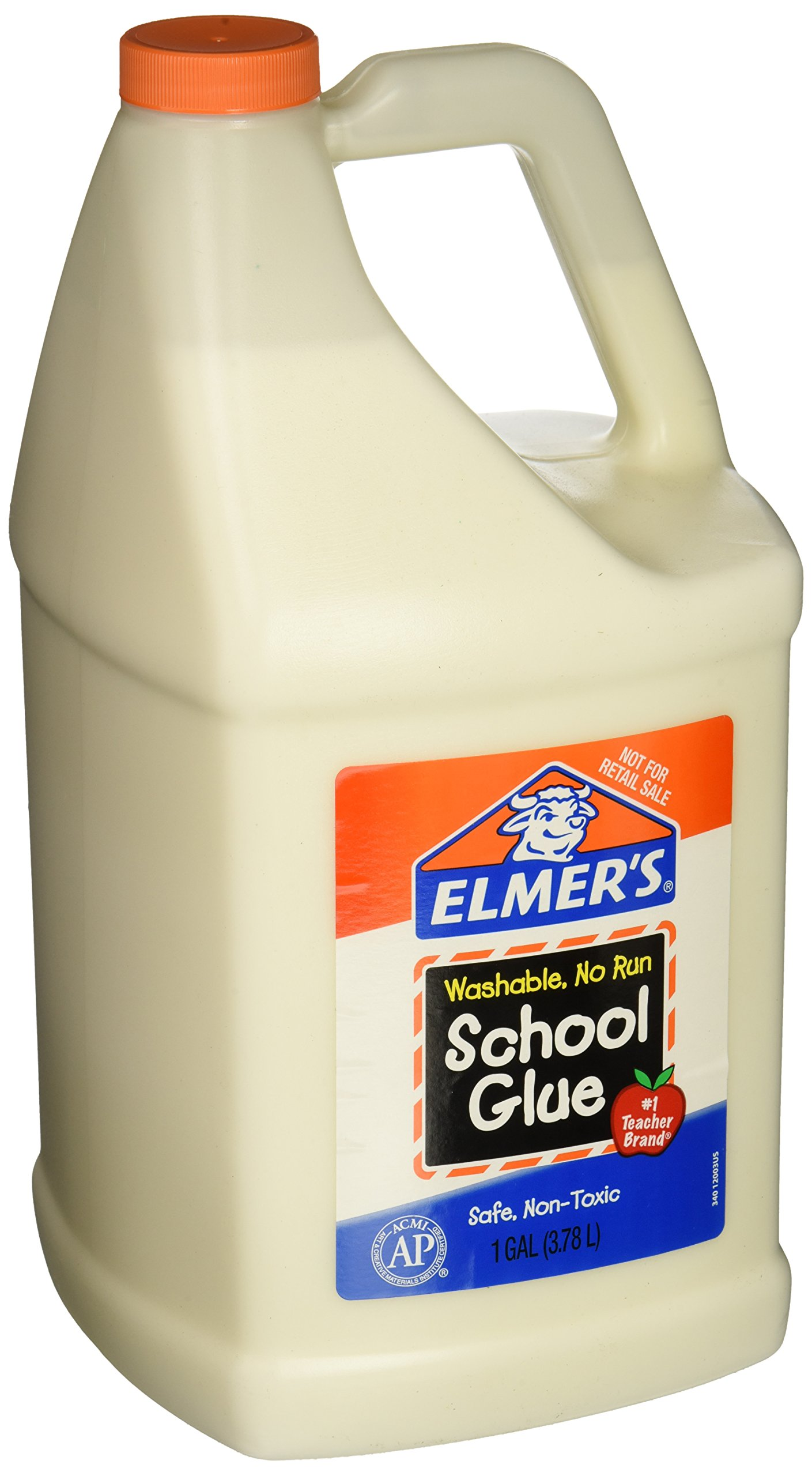 Elmer's E340NRSS School Glue Jar, Washable, 1 gal Capacity, White by Elmer's