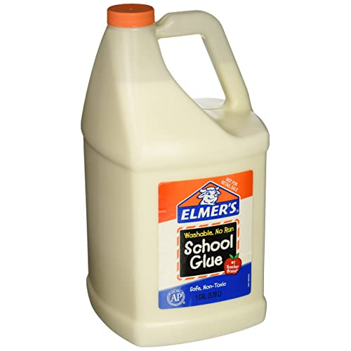 Elmers E340NRSS School Glue Jar, Washable, 1 gal Capacity, White