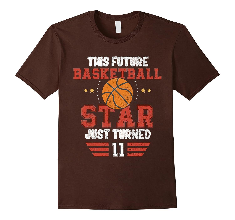 Funny 11th Birthday Basketball Tee Birthday Boy T-Shirt-FL