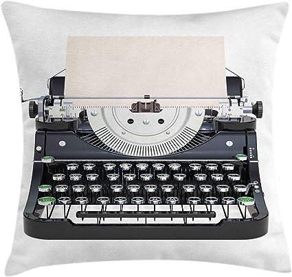ABAKUHAUS Máquina de Escribir Funda para Almohada, Teclado ...