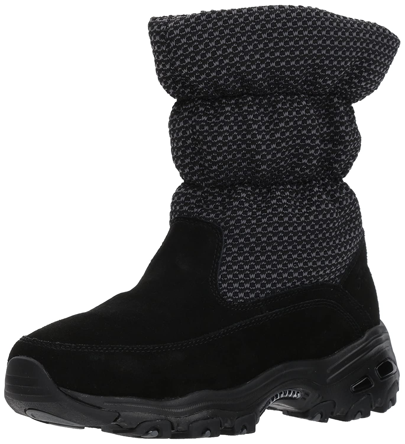 Skechers Women's D'Lites Winter Boot B06XGP9PLF 6.5 B(M) US|Black