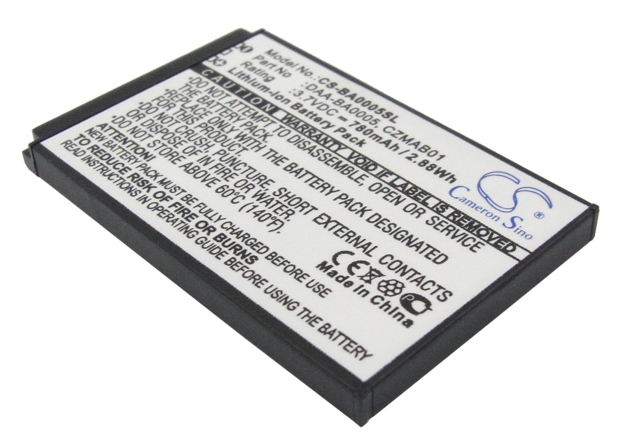 Cameron Sino 780mAh Battery for Creative Zen Micro, Zen Micro 4GB, Zen Micro 5GB, Zen Micro 6GB, Zen Micro Photo