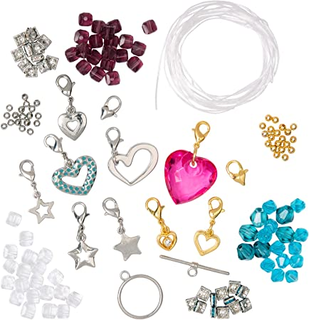 Glitz and Glimmer Creation Kit Craftabelle CF2444Z 310pc Jewelry Set with Assorted Beads 6mm DIY Jewelry Sets for Kids Aged 8 Years + Bracelet-Making Kit