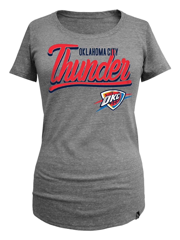 NBAレディースTriblend Jersey半袖スクープネックTシャツ B01LYC7VVS Medium|グレー|Oklahoma City Thunder グレー Medium