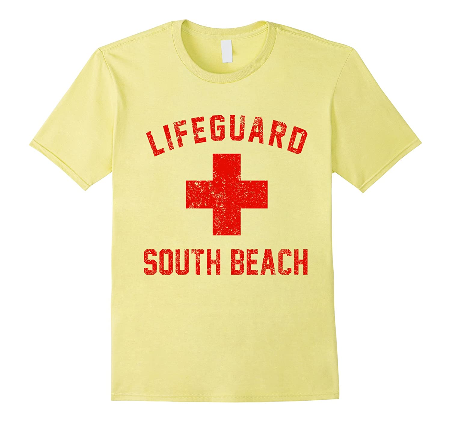 Lifeguard South Beach Florida FL Swimming Pool Ocean T Shirt