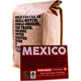 Wild Coffee, Whole Bean Organic Coffee, Fair Trade, Single-Origin, 100% Arabica, Austin Fresh Roasted (Mexico Dark Roast, 12 ounce)