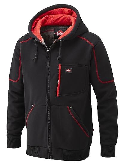 the latest be31f 488bd Lee Cooper Workwear, Felpa in pile con cappuccio, colore: Nero, taglia XXL,  LCSWT105